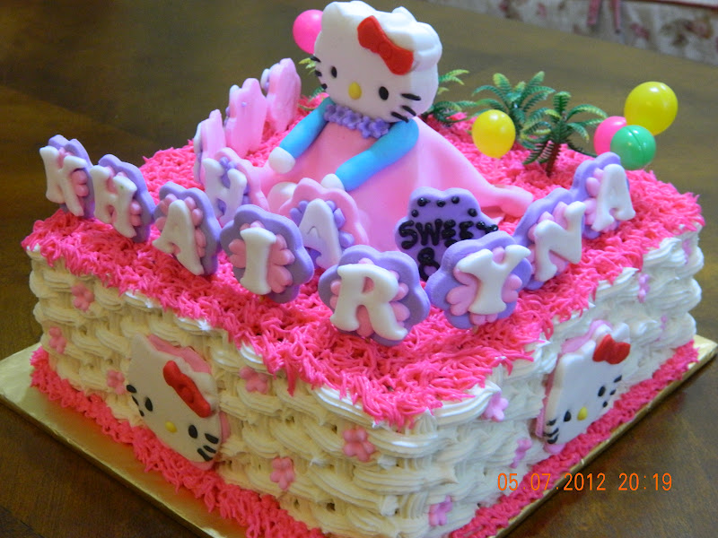 Mybabydeco Cake Hello Kitty Buttercream