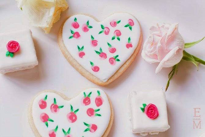 Sweet Elise: Heart Cookies and Petit Fours