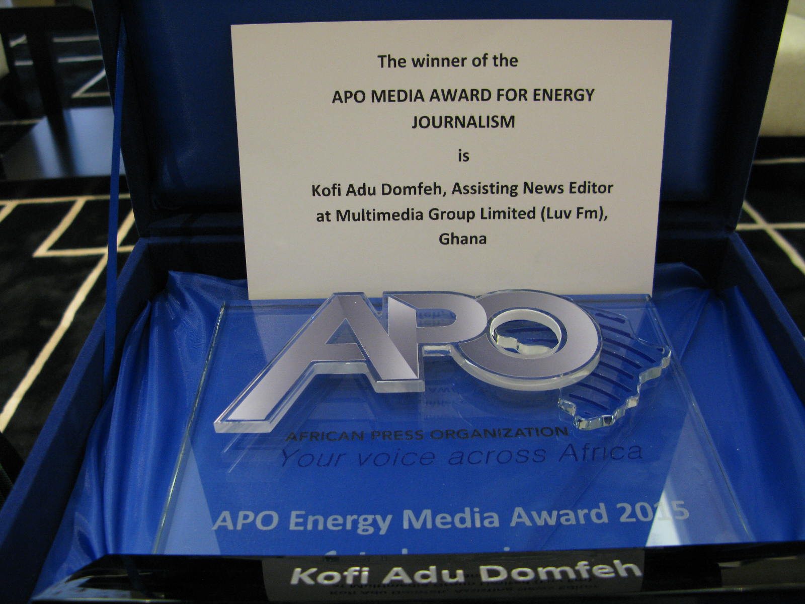 APO Energy Media Award 2015