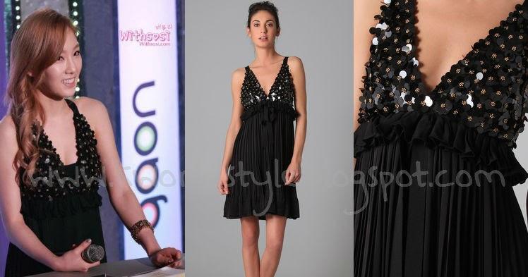 K World Style K Pop K Drama Fashion Black Dress Taeyeon Wore At Gaon