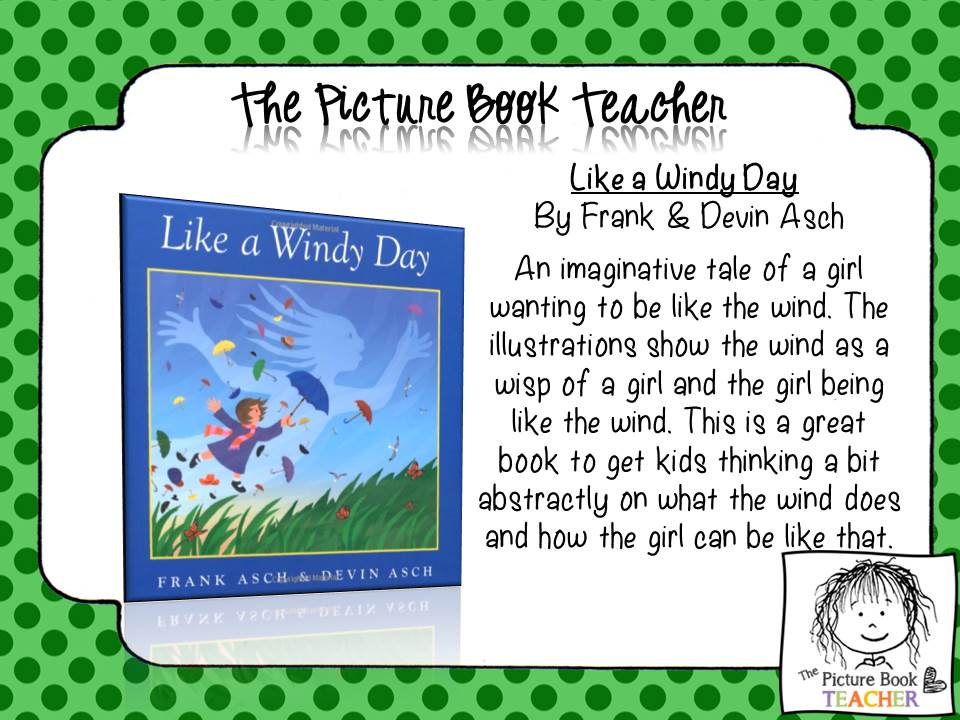 The Picture Book Teacher's Top 10 books for March, theme - Spring.