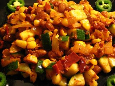 Vegetarian Stove-Top Calabacitas