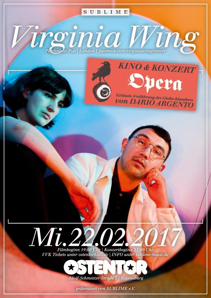 KINO &amp; KONZERT: <br> Opera &amp; Virginia Wing (Live)