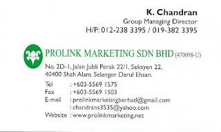 PROLINK MARKETING SDN BHD