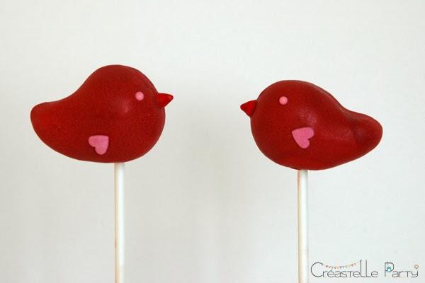 cake pop love bird