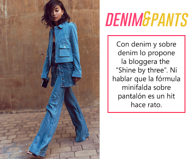 denim pant denim with denim shine by three