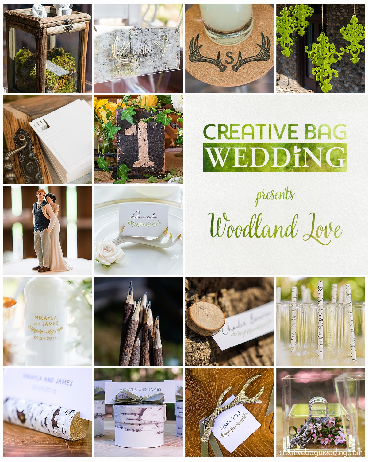 woodland love mood board | Creative Bag Wedding