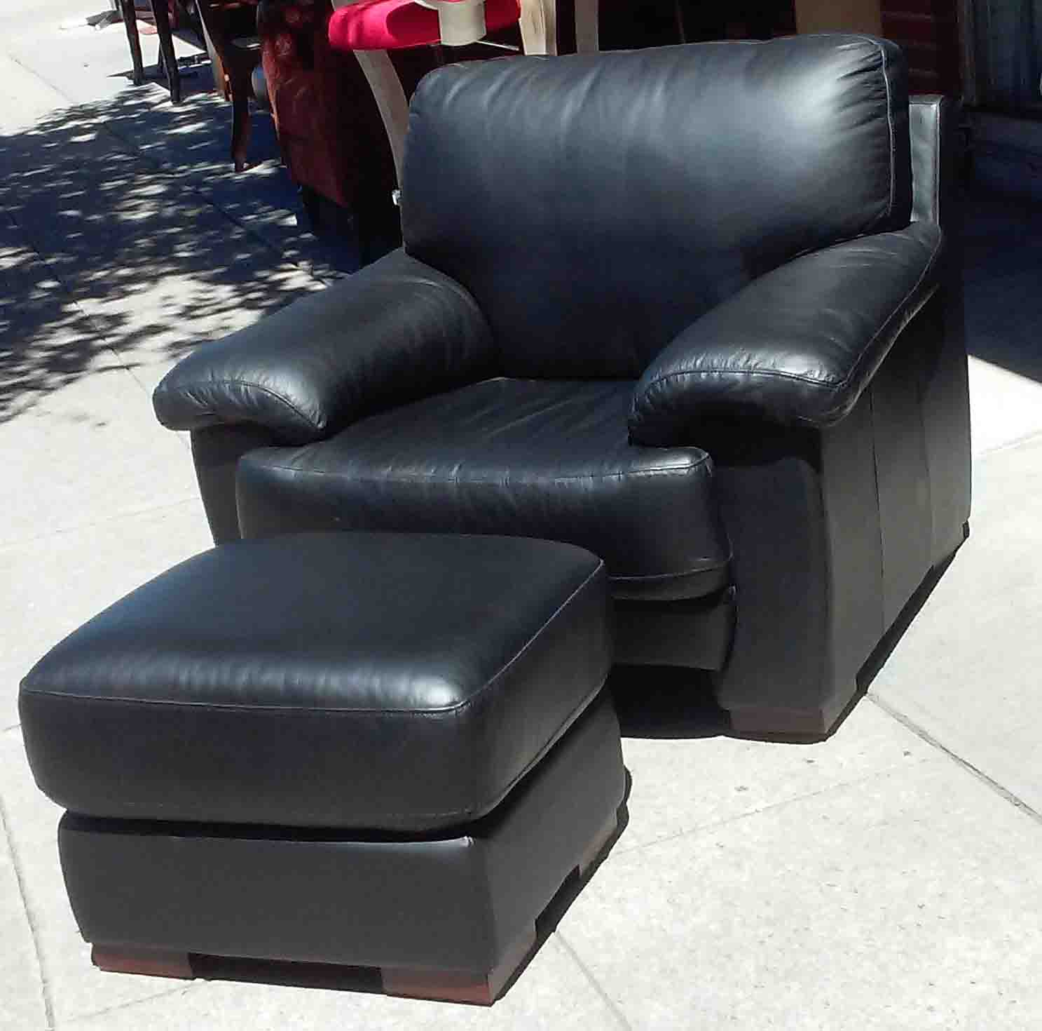 Black Leather Kitchen Chairs: UHURU FURNITURE & COLLECTIBLES: SOLD Black Leather Chair