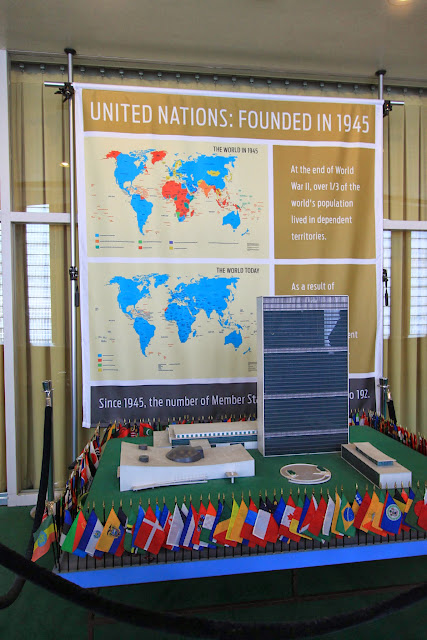 United Nations model in UN Headquarter Building in New York, USA