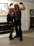 Going to Halloween party Fall 2010...Dog & Beth..