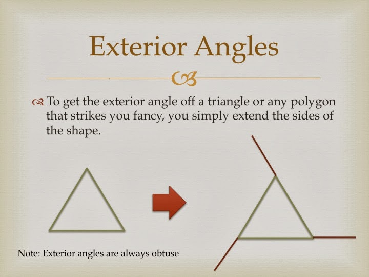 Exterior, Interior U0026 Remote Interior Angles In Triangles