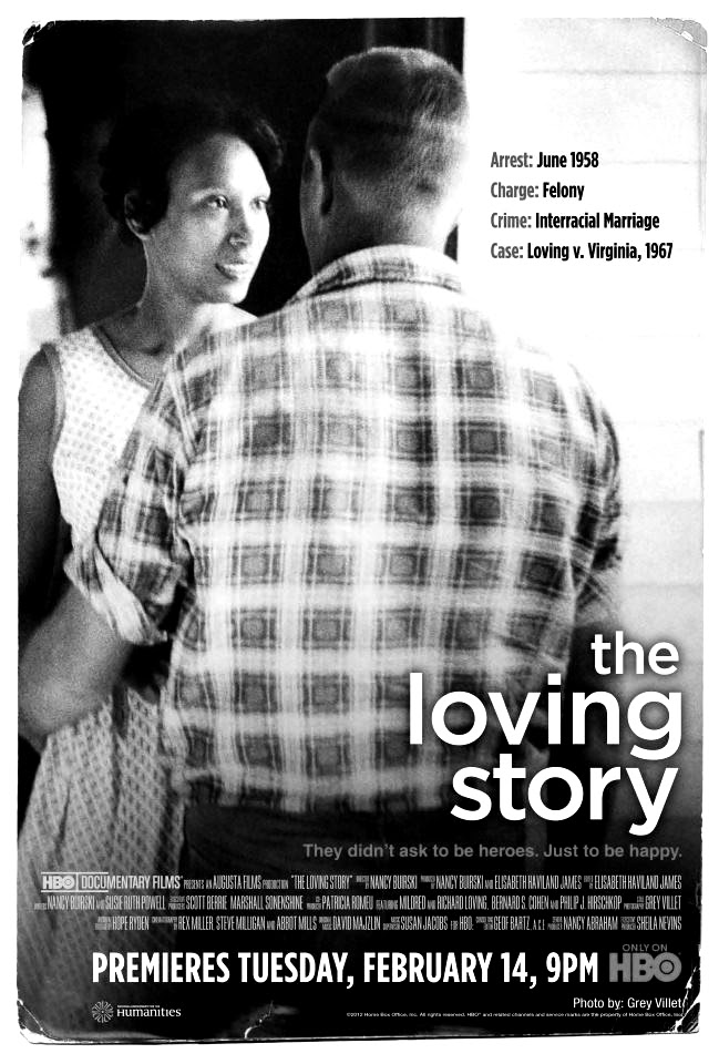 The Loving Story, the Documentary Movie about the couple, Richard & Mildred Loving, whose 1967 case against Jim Crow miscegenation laws reached the supreme court