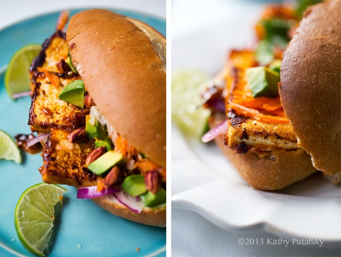 Sandwich Meal: Spicy Peanut Tofu.
