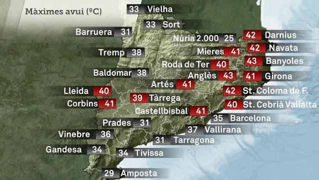 Cap de setmana de rècords de calor