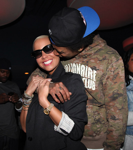 amber rose and wiz khalifa. WIZ KHALIFA CELEBRATES ALBUM