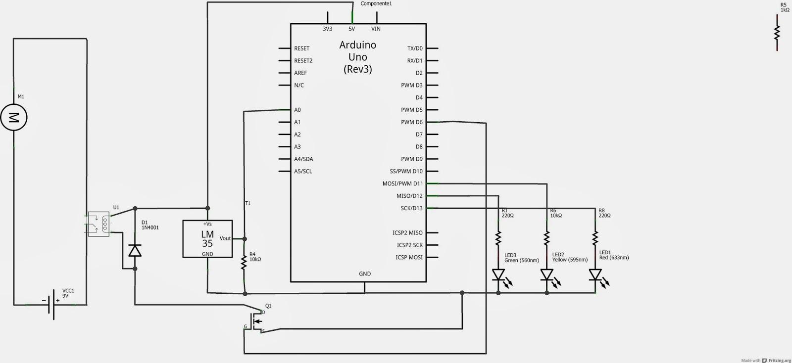 Circuito Ventilador : Automatização de ventilador com arduino e sensor lm circuito