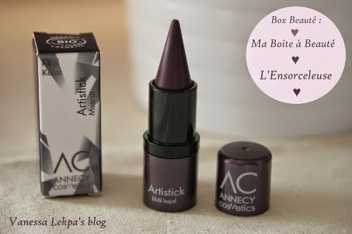 khol kajal muscat Annecy Cosmetics , box beauté : ma boîte à beauté Octobre L'Ensorceleuse , spoilers blogueuse beauté