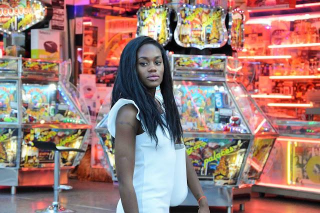 robe blanche, fête foraine marseille, blog mode