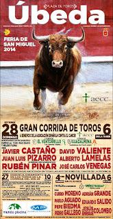 Úbeda - Feria 2014 - Cartel Taurino