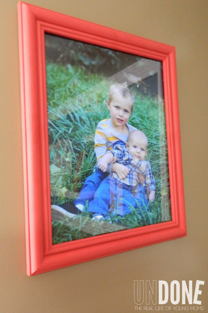 {The UNDONE Blog} Hang personal photos in your nursery