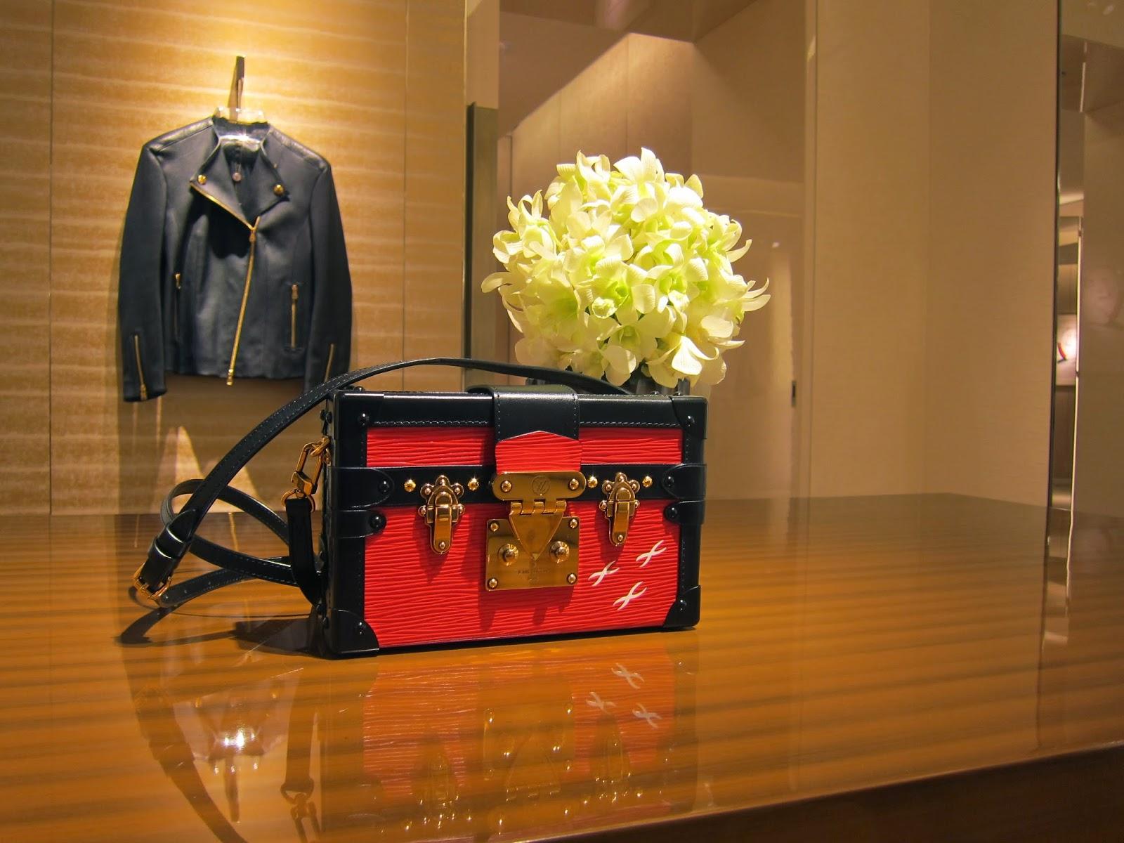 Louis Vuitton Red Epi Petite Malle