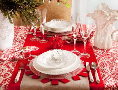 cómo decorar la mesa en Navidad y Fin de Año