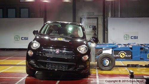 Fiat 500X Euro NCAP Side Crash Test