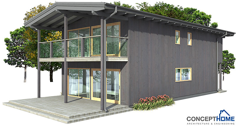 Affordable Modern House Plans Modern House Plan With High Ceilings Four Bedrooms And