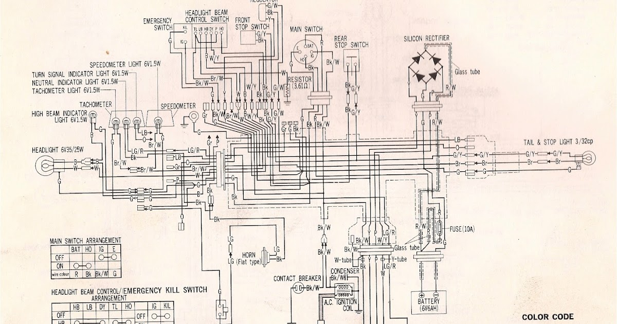 1975 cb750 wiring diagram #5 1971 Honda 750 Four Wiring-Diagram 1975 cb750 wiring diagram