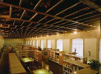 Sala de lectura de la Biblioteca del INAP