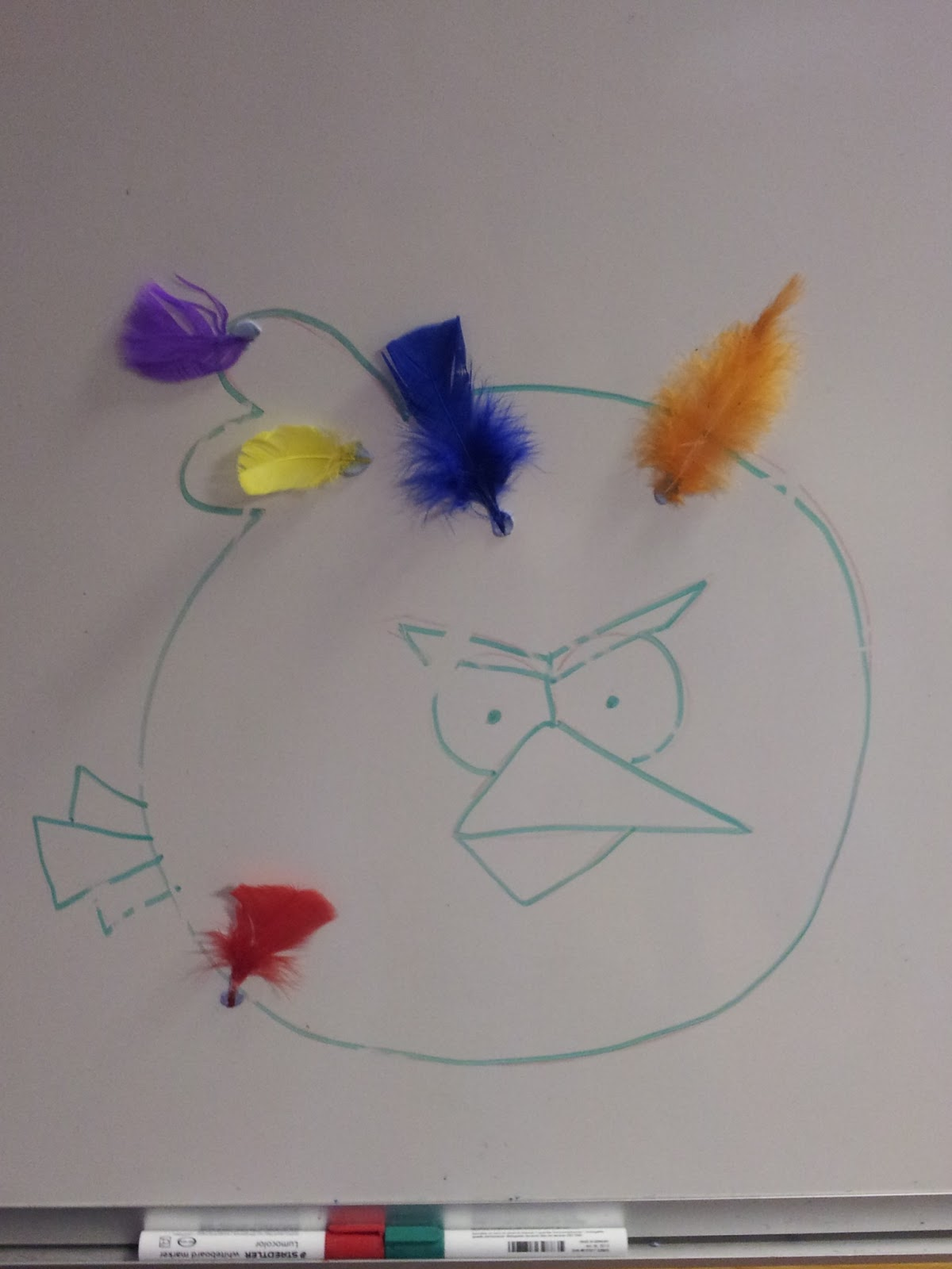 Pin the feather on the angry bird