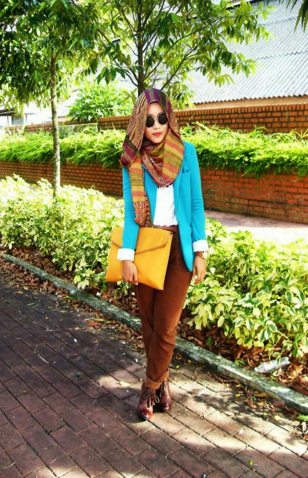 Style hijab jilbab untuk remaja Fashion style untuk orang kurus