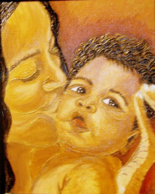 Mothers love painting