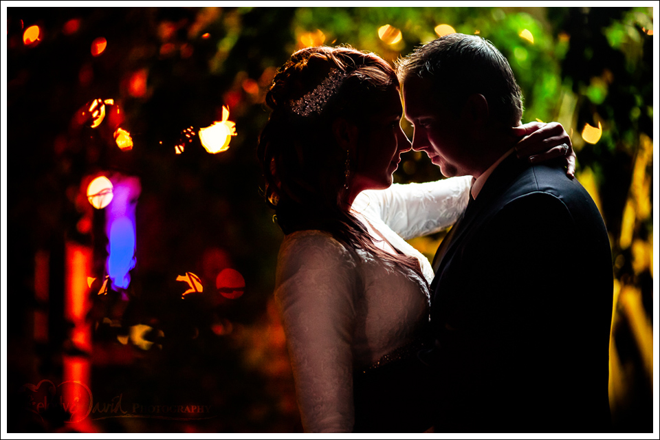 After dark wedding photography at seven sycamores