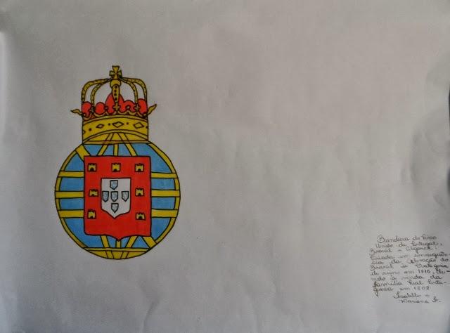 Bandeira do Reino Unido de Portugal, Brasil e Algarve