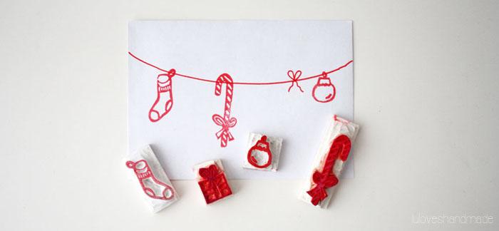 DIY Stempel für Weihnachten