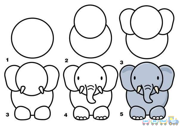 Vẽ con voi đơn giản