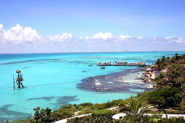 Unglaublich türkises Meer in der Karibik