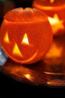 фонарик из апельсина фото