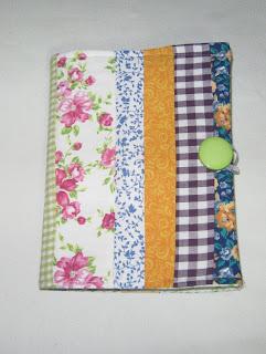 capa de livro ou capa de agenda em patchwork