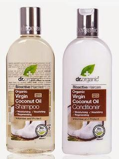 champú y acondicionador de aceite de coco dr organic