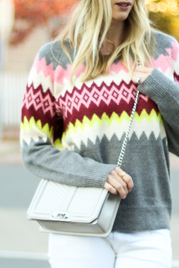 printed fair isle sweater
