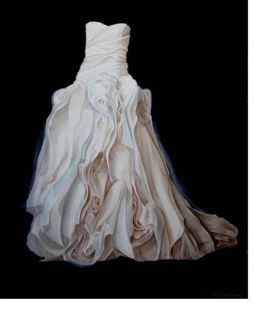 Kristin wolfson commissioned wedding dress painting 60 for Painted on wedding dress