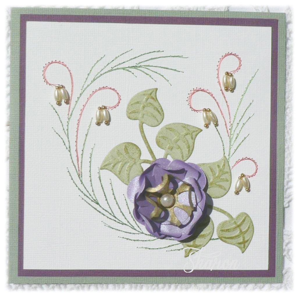 Cardmaking Online Karin S Creations With Die Cutting By