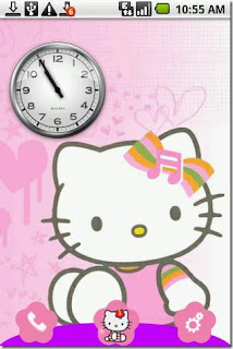 Screenshots of the Hello Kitty for Android tablet, phone.
