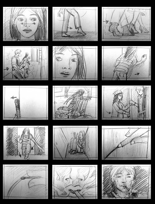 "Storyboards for short film ""The Ghost of Morris Horn"""