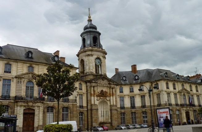 Ayuntamiento o Hotel de Ville de Rennes.