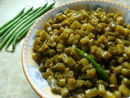beans palya udupi recipe