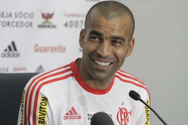 """Conhecido pelos comentários e gestos polêmicos, Sheik se autodenominou """"polido"""" (Foto: Gilvan de Souza/Flamengo)"""