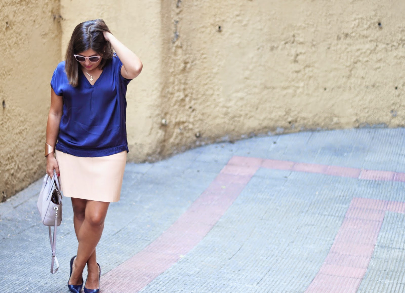 photo-nude_leather_skirt-blue_silk-shirt-street_style